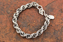 Load image into Gallery viewer, Silver Chain Maille Bracelet