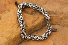 Load image into Gallery viewer, Silver Byzantine Chain Maille Bracelet