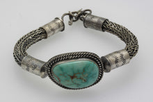Load image into Gallery viewer, Turquoise Mountain Celtic/Viking Weaved Bracelet