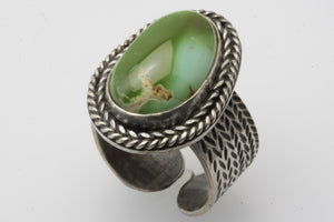 Moss Green Royston Adjustable Ring