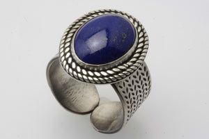 Lapis Lazuli Oval Adjustable Ring