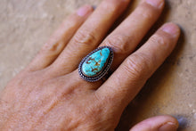 Load image into Gallery viewer, Royston Teardrop Turquoise Ring