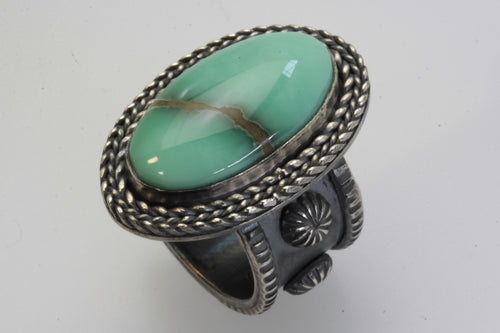 Desert Bloom Variscite Oval Ring