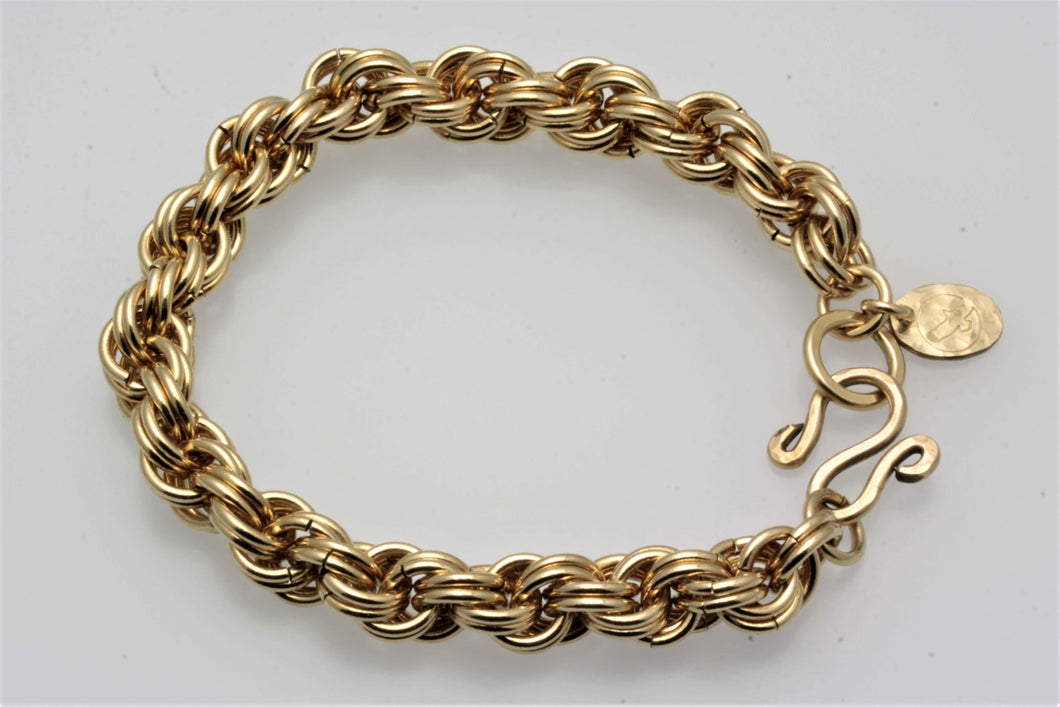Gold Rope Chain Maille Bracelet