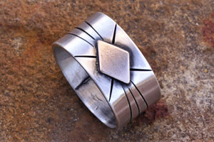 Spacecraft Silver Bronze Ring