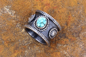 Turquoise Mountain Band Ring