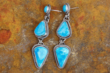 Load image into Gallery viewer, Kingman Three Stone Drop Earrings