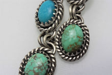 Load image into Gallery viewer, Kingman Carico Lake Three Stone Turquoise Earrings