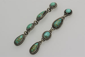 Tyrone, Campitos and Carico Lake Four Small Turquoise Earrings