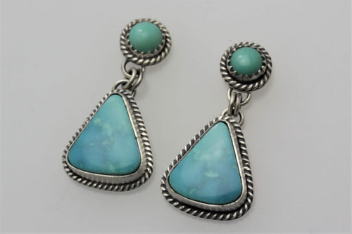 Kingman Triangle Drop Earrings