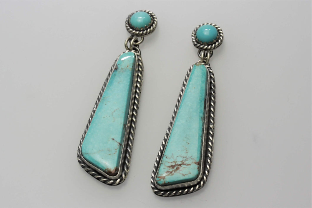 Kingman Long Triangle Earrings