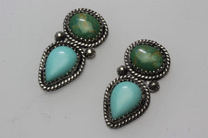 Campitos and Kingman Two Stones Earrings
