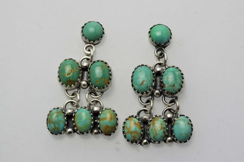 Campitos and Kingman Six Small Stones Earrings