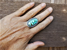 Load image into Gallery viewer, Red Web Turquoise Mountain Oval Ring
