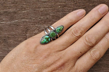 Load image into Gallery viewer, Sonoran Gold Three Stones Ring
