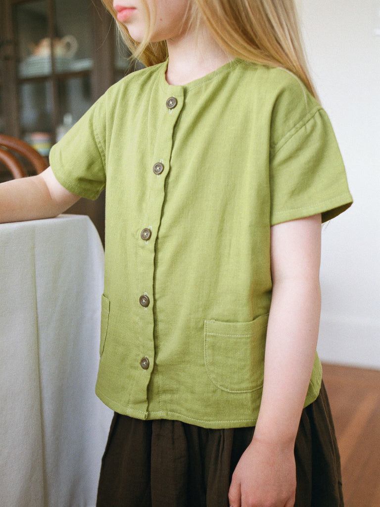 Olsa Shirt, Short sleeves, Spring Green