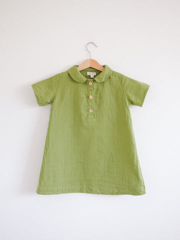 Agnes Tunic Dress, Short sleeves, Spring Green