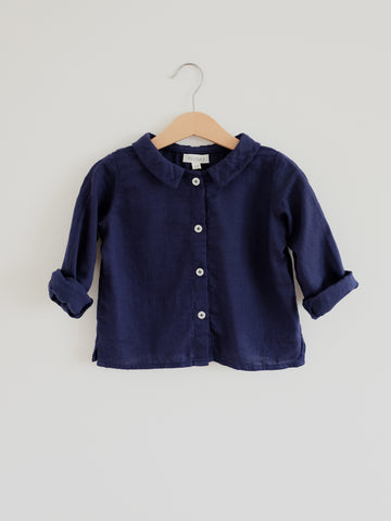 Ula Blouse, Night Blue
