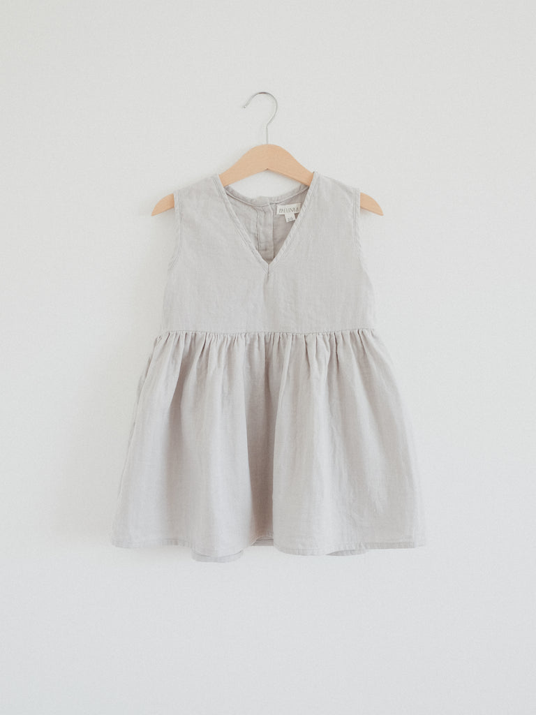 Beata Pinafore Dress, Moon Gray
