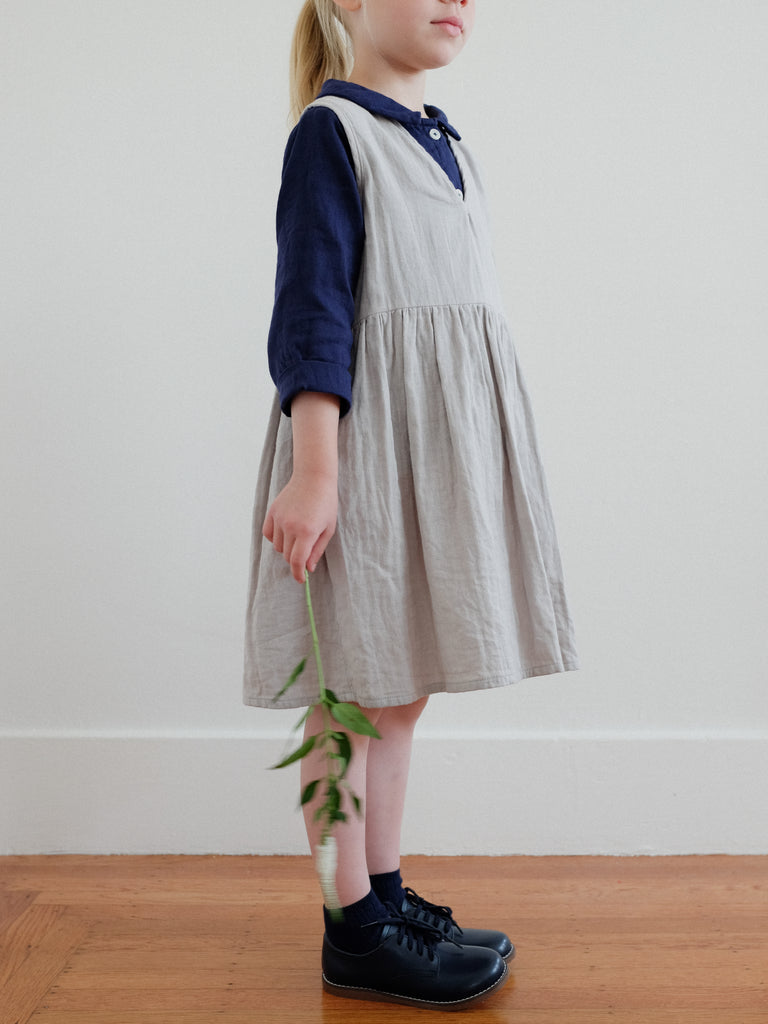 Beata Pinafore Dress Moon Gray