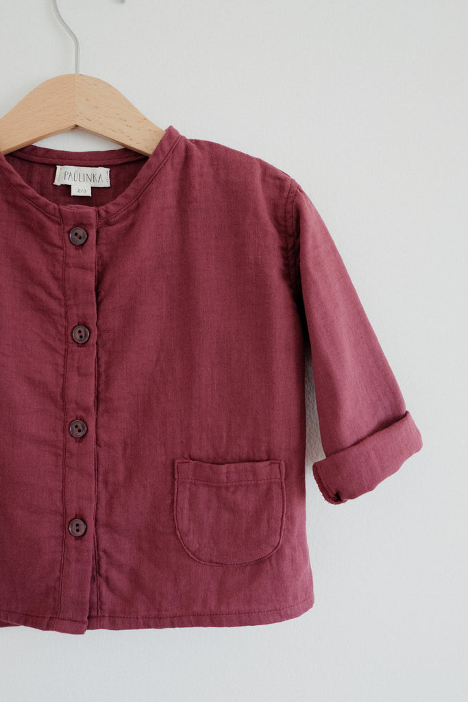 Olsa shirt, Burgundy