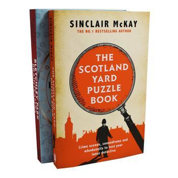 Scotland Yard Puzzle,Bletchely Park 2 Adult Puzzle Books Set Paperback By Sinclair Mckay - St Stephens Books