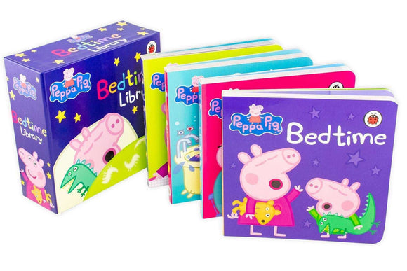 Peppa Pig Bedtime Library 4 Board Books Collection - St Stephens Books