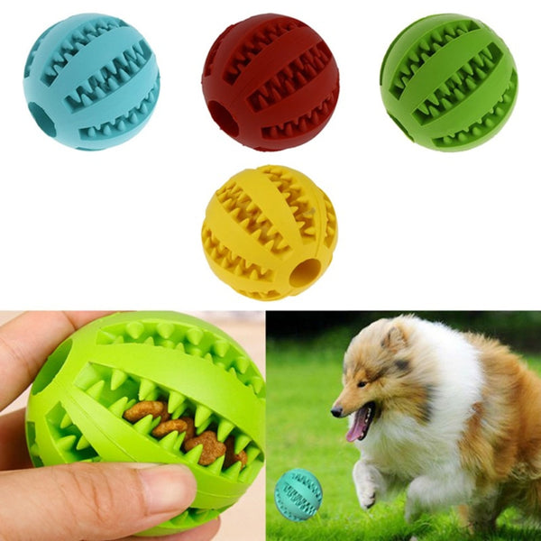 Interactive Natural Rubber Ball Dog Toy