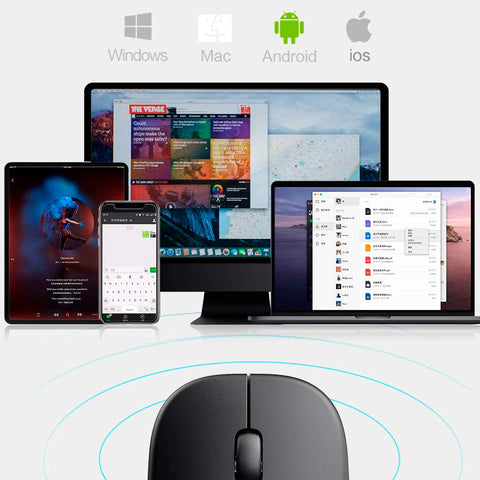 mouse slim compatible con ios, macos, android, windows