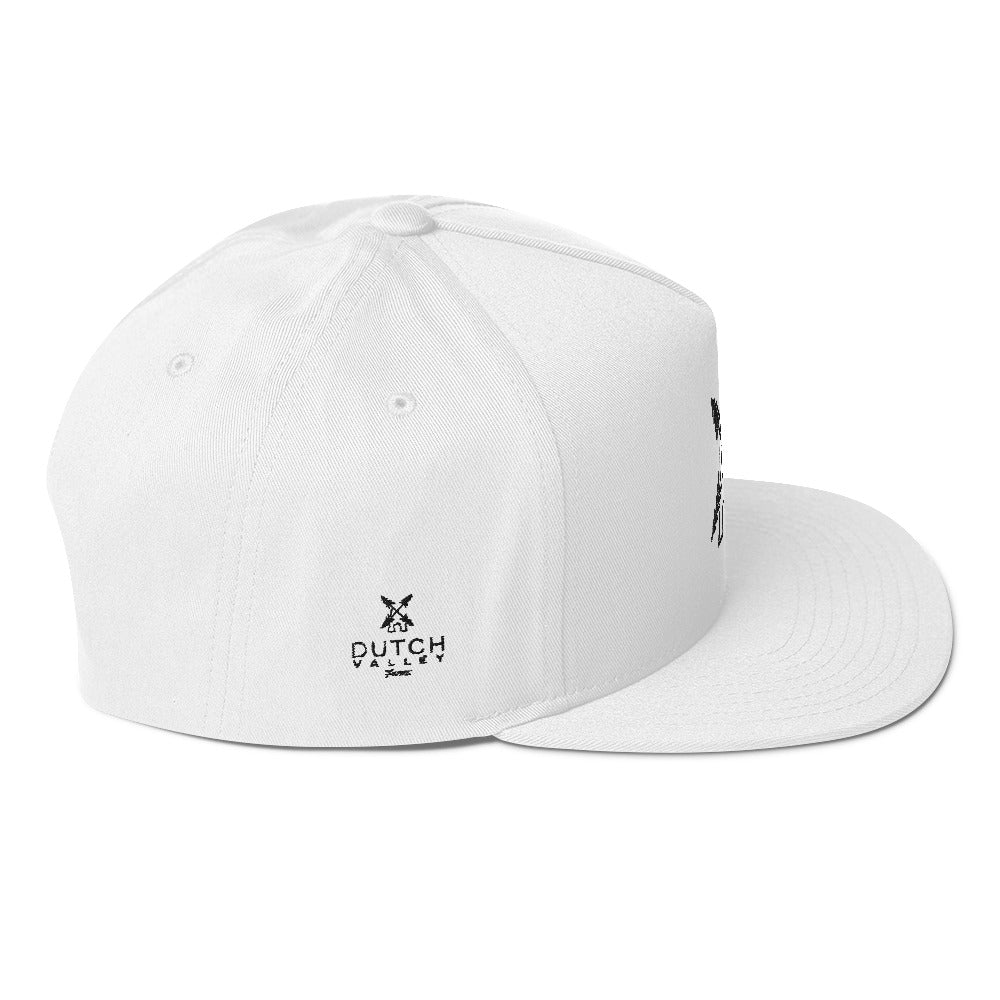 Flat Bill Cap-White DVF