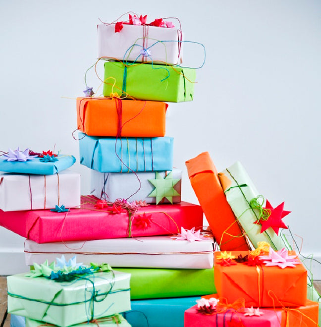 Colours gift wrap
