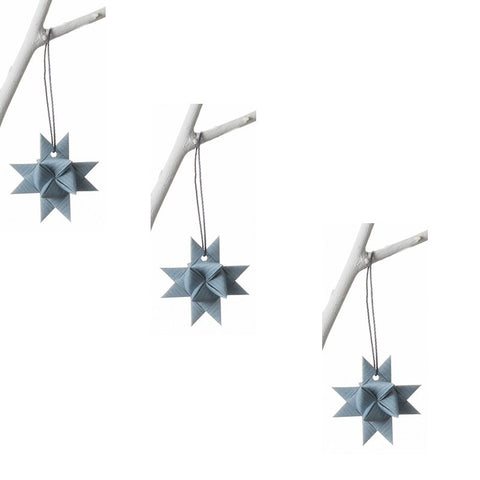 Gray Blue stars S - 3 pcs