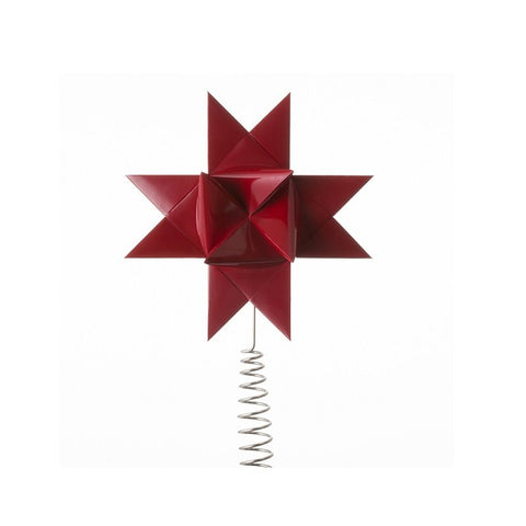 Red painted tree topper S
