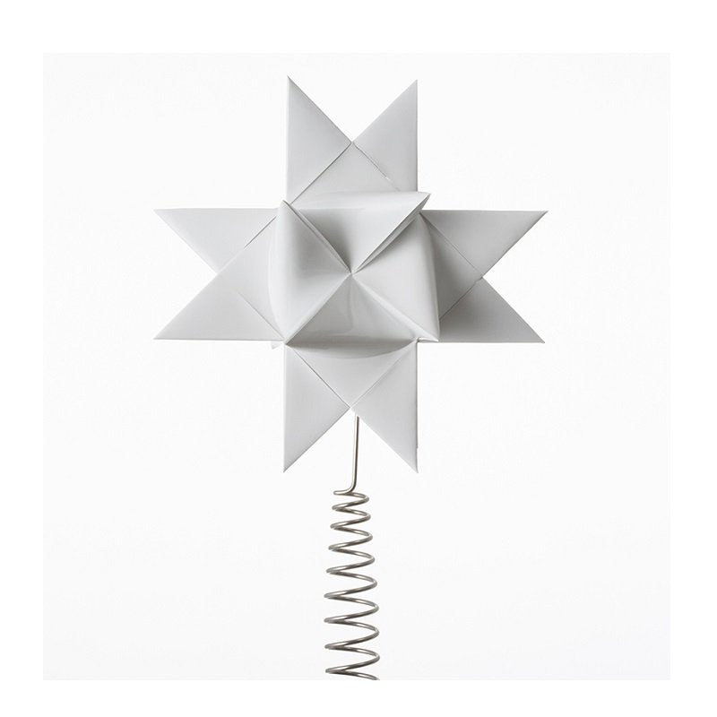 White painted tree topper star M