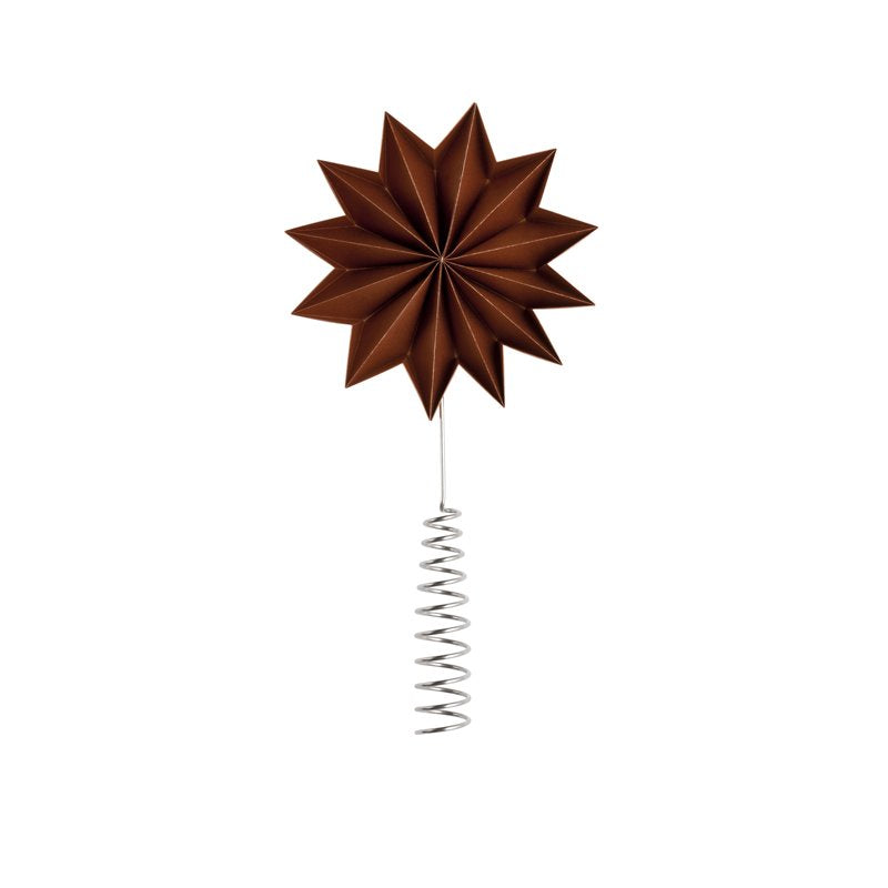 Copper Pleat tree topper - giant