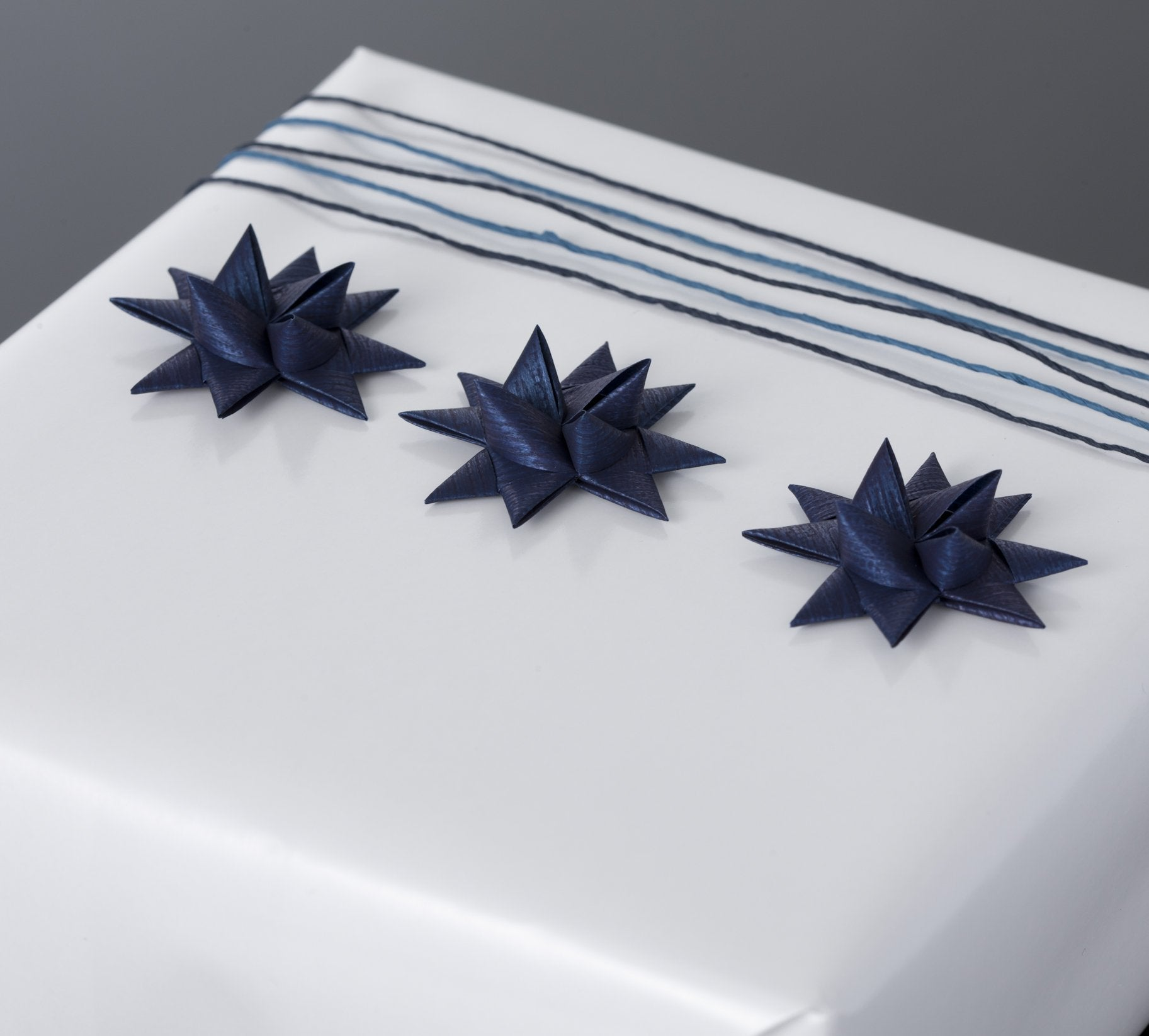 Dark Blue half star with tapeS - 12 pcs