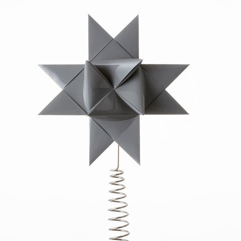 Gray painted tree topper star L