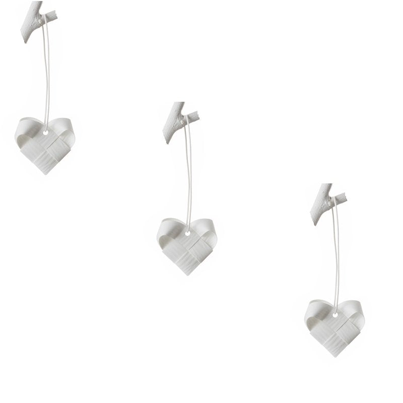 White hearts S - 3 pcs