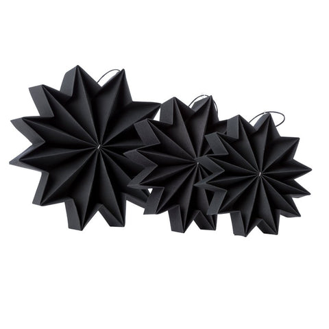 Pleat stars - Black