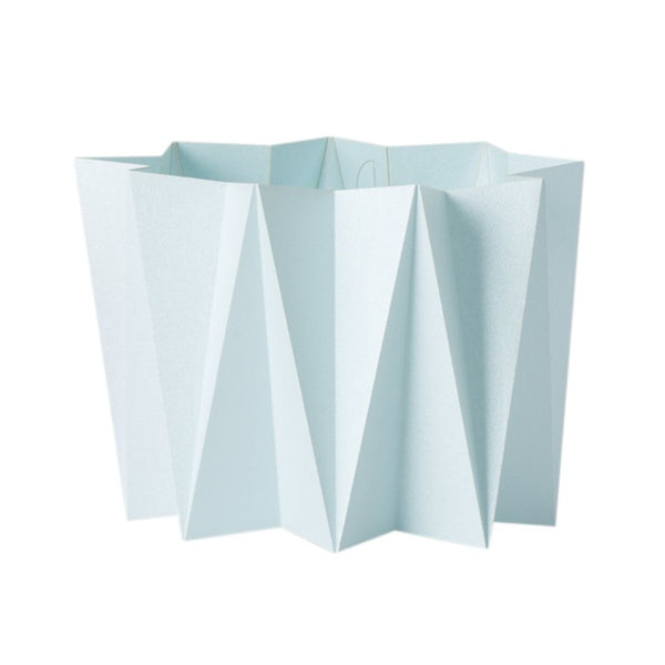 Origami cover vase - Damask Blue 2 pcs S