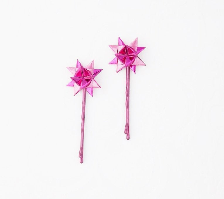 Cerise hairpins a set of two