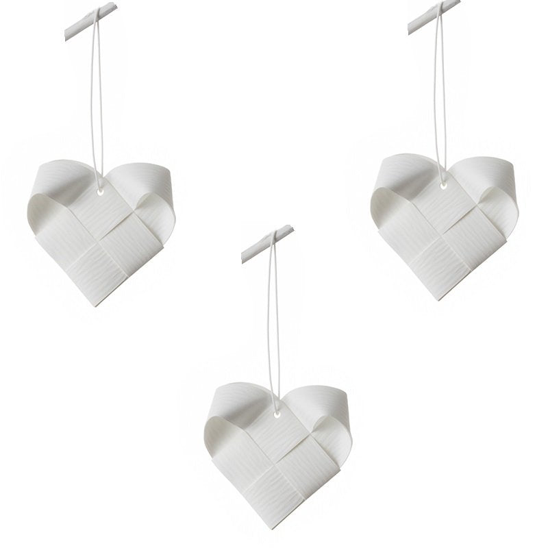 White Hearts M - 3 pcs