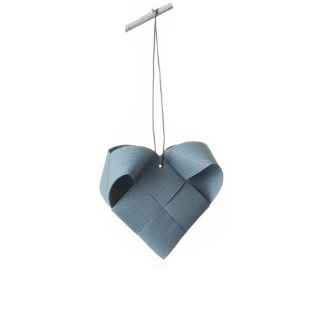 Gray Blue Heart L