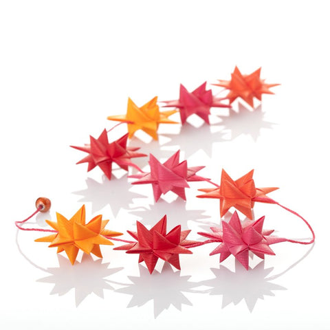 Red & Orange - star garland no 31