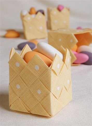 Basket soft yellow - 3 pcs