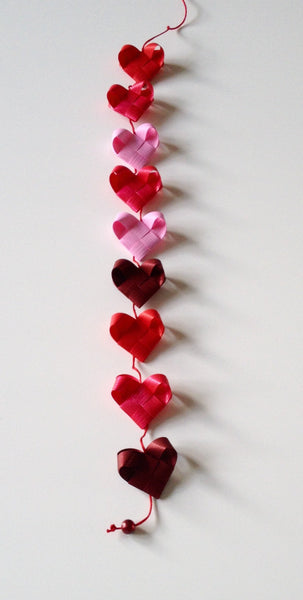Red & Pink - Heart garland no 2