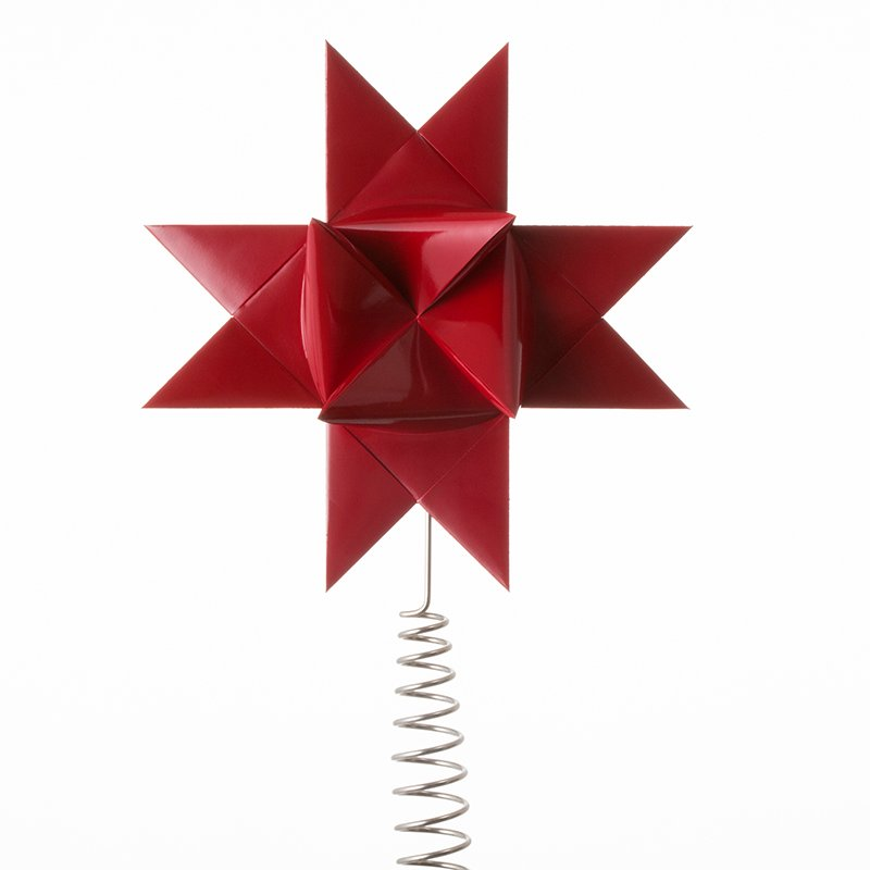Dark Red painted tree topper L