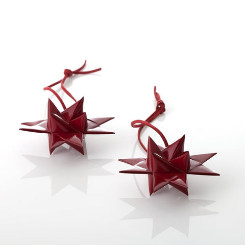 Dark Red painted stars XS - 2 pcs