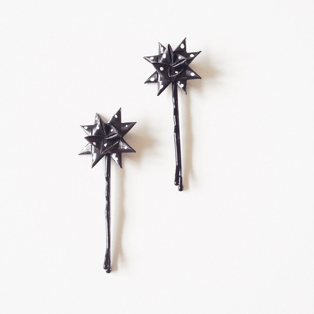 Polka dots hairpins a set of two