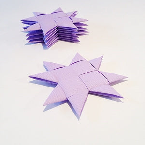 Lilac flat star with tape M - 5 pcs
